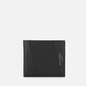Ted Baker Mens Fiters Seamed Leather Bifold Wallet - Black