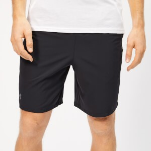 Under Armour Mens Qualifier WG Perf Shorts - Black/White/Pitch Grey