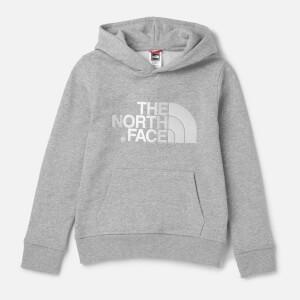 The North Face Kids Drew Peak Pull Over Hoodie - TNF Light Grey Heather/TNF White