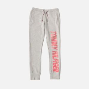 Tommy Hilfiger Girls Ame Big Logo Sweatpants - Light Grey Heather