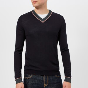 Ted Baker Mens Coookie V-Neck Knitted Jumper - Navy