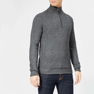 Ted Baker Mens Lohas Half Zip Funnel Knitted Jumper - Charcoal