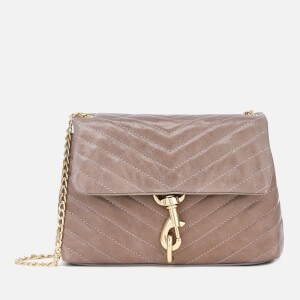 Rebecca Minkoff Womens Edie Quilted Fiore Cross Body Bag - Mink