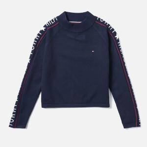 Tommy Hilfiger Girls Iconic Logo Sweatshirt - Black Iris