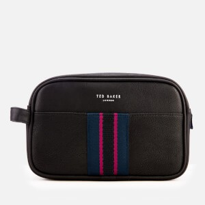 Ted Baker Mens Benny Webbing Wash Bag and Towel - Black