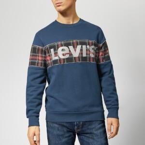 Levis Mens Reflective Crew Sweatshirt - Piping Dress Blues