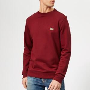Lacoste Mens Classic Embossed Logo Crew Sweatshirt - Pinot
