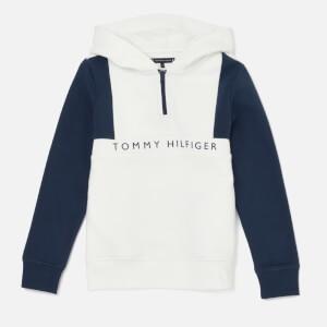 Tommy Hilfiger Boys Colorblock Hoodie - Bright White/Black Iris