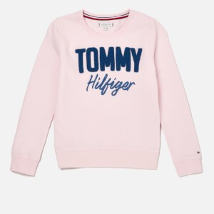 Tommy Hilfiger Girls Mixed Applique Sweatshirt - Barely Pink