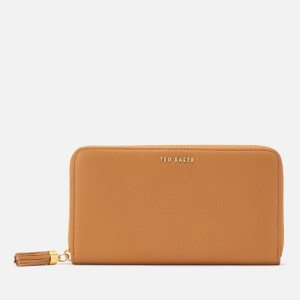 Ted Baker Womens Sheea Tassel Zip Around Matinee Purse - Tan