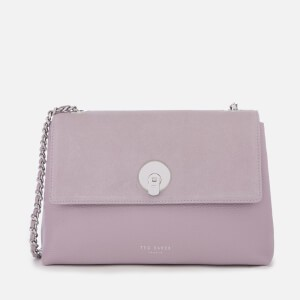 Ted Baker Womens Sylvana Circle Lock Cross Body Bag - Light Purple