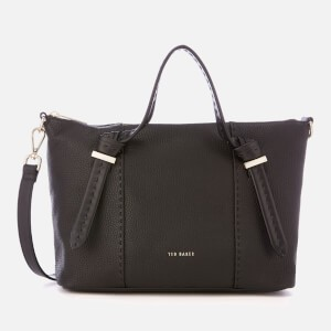 Ted Baker Womens Olmia Knotted Handle Small Tote Bag - Black