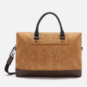 Ted Baker Mens Pitza Nubuck Document Bag - Tan