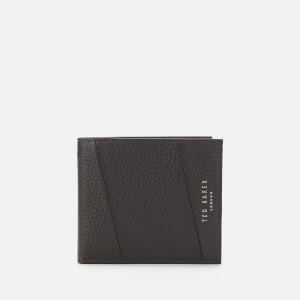 Ted Baker Mens Fiters Seamed Leather Bifold Wallet - Chocolate