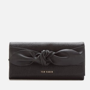 Ted Baker Womens Marigo Knotted Flap Matinee Purse - Black