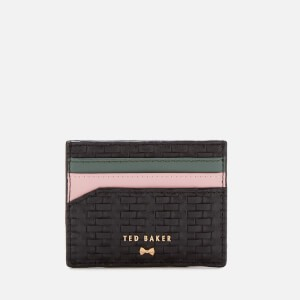 Ted Baker Womens Mabes Raffia Card Holder - Black