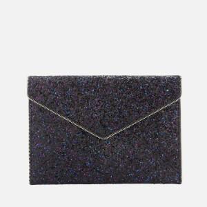 Rebecca Minkoff Womens Glitter Leo Clutch Bag - Purple Multi