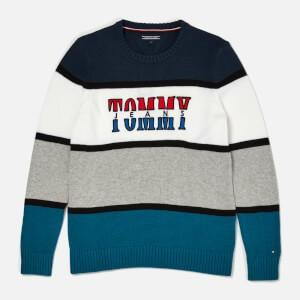 Tommy Hilfiger Boys Retro Colorblock Sweatshirt - Blue Sapphire/Multi