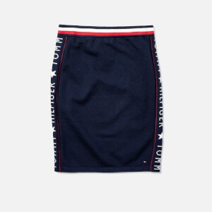 Tommy Hilfiger Girls Iconic Logo Skirt - Black Iris