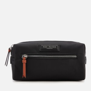Ted Baker Mens Blueye Satin Nylon Wash Bag - Black