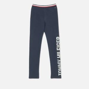 Tommy Hilfiger Girls Essential Logo Legging - Black Iris