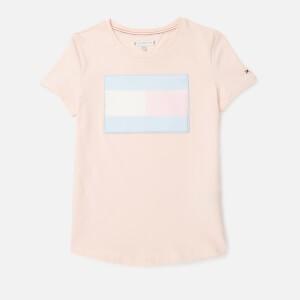 Tommy Hilfiger Girls Fur Flag T-Shirt - Barely Pink