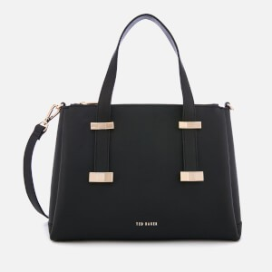 Ted Baker Womens Julieet Bow Adjustable Handle Small Tote Bag - Black