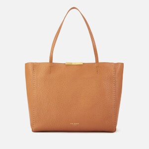Ted Baker Womens Clarkia Soft Grain Faceted Bar Shopper Bag - Tan