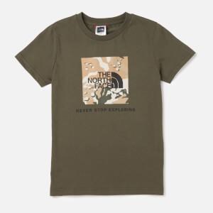 The North Face Kids Youth Box Short Sleeve T-Shirt - Kelp Tan
