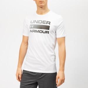 Under Armour Mens Team Issue Wordmark Short Sleeve T-Shirt - White/Black