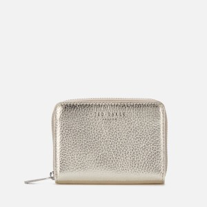 Ted Baker Womens Illda Zip Around Mini Purse - Gold