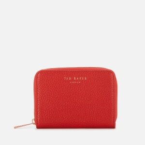 Ted Baker Womens Illda Zip Around Mini Purse - Red