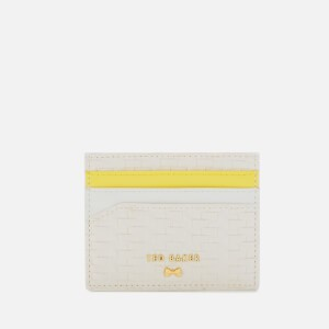 Ted Baker Womens Mabes Raffia Card Holder - White