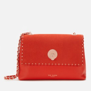 Ted Baker Womens Sultane Studded Circle Lock Cross Body Bag - Red