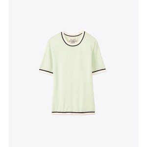 PERFORMANCE CASHMERE SHORT-SLEEVE SWEATER