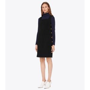 SIDE-BUTTON SHIFT DRESS