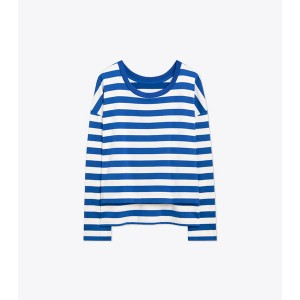 PERFORMANCE STRIPED LONG-SLEEVE TOP