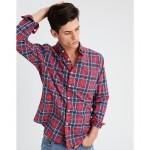 AE Plaid Poplin Button-Down Shirt