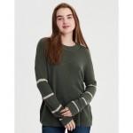 AE Striped Crew Neck Sweater