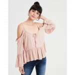 AE Cold Shoulder Tunic Top