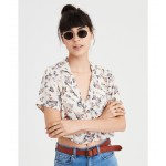 AE Cropped Button Up Blouse