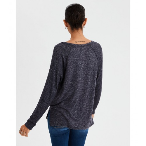 아메리칸이글 AE Soft & Sexy Plush Henley Top