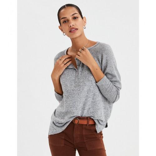 아메리칸이글 AE Soft & Sexy Plush Henley Top
