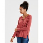 AE Soft & Sexy Plush Henley Top