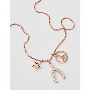 AEO Rose Gold Wishbone Necklace
