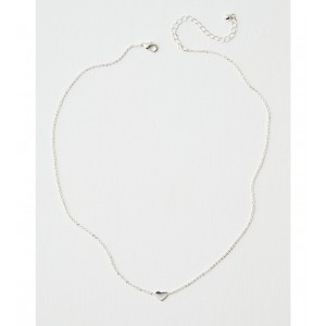 AEO Silver Heart Necklace