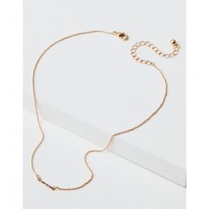 AEO Pave Rainbow Bar Necklace