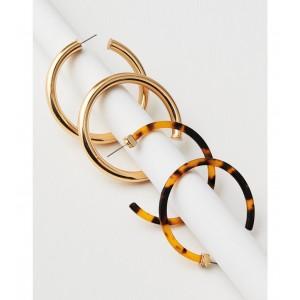 AEO Tort & Metal Hoop Earring 2-Pack