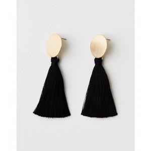 AEO Gold And Black Tassels Earring