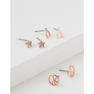 AEO Peace Sign Earring 3-Pack
